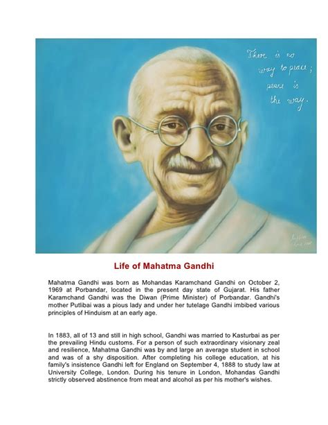 biography of karamchand gandhi life of mahatma gandhi