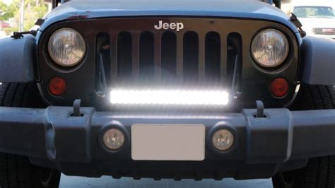 jeep jk led light bar ijdmtoy 2007 2016 jeep wrangler jk led light bar