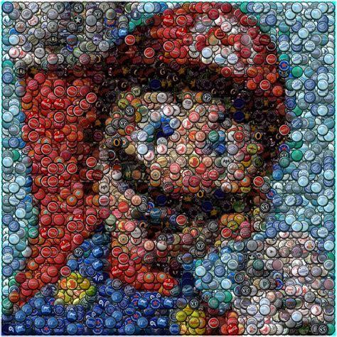 Regent Bottle 250ml Clear Botol Regent mosaic of mario made out of hundreds of bottle caps pics