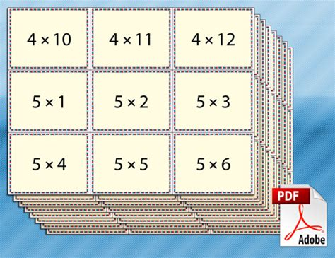 printable times tables flash cards free printable multiplication flash cards for kids math