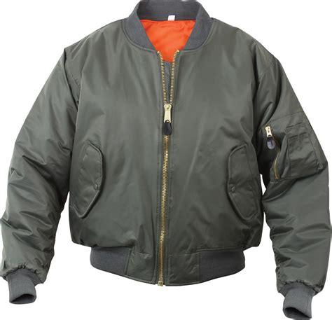 Sale Army Bomber Jacket olive drab air ma 1 reversible bomber coat flight jacket ebay