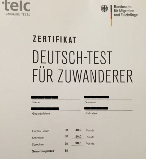 test b1 telc test b1 results in germany