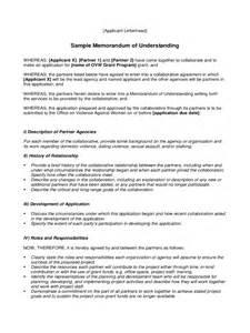 Memo Of Understanding Template by Memorandum Of Understanding 6 Free Templates In Pdf