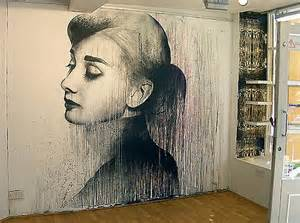 wall painting murals audrey hepburn wall mural by ben slow