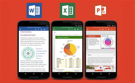 ms office for android microsoft s office apps officially launch for some android phones
