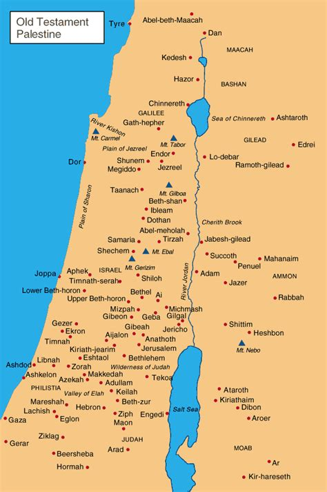 biblical map of israel bible maps