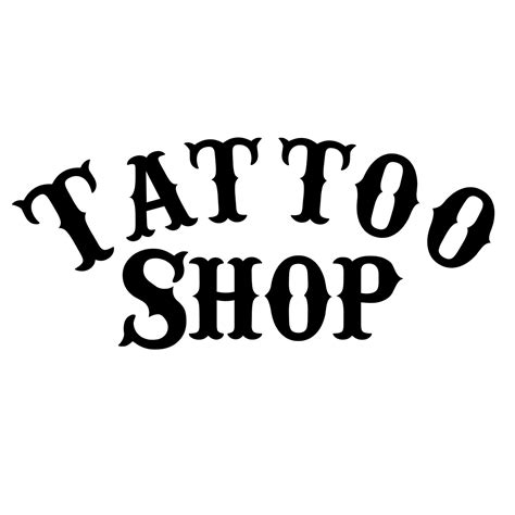 tattoo shop signs shop window wall vinyl decal diy sign select