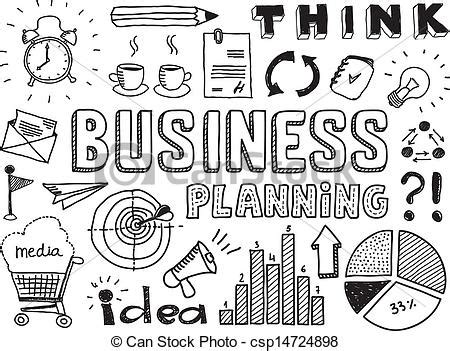 doodle free time eps vectors of business planning doodles elements