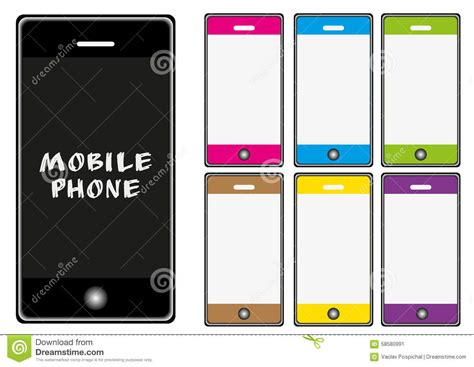 mobile phone set vector mobile phone set stock illustration image 58580991
