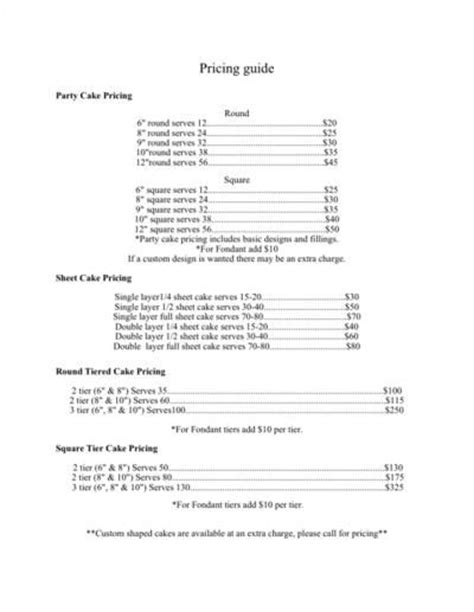 cupcake price list template 17 best ideas about cake business on pastel