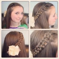 Strand slide up braid cute girls hairstyles