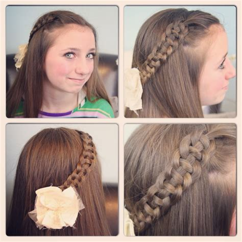 cute hairstyles and how to do it 4 strand slide up braid pullback hairstyles cute girls