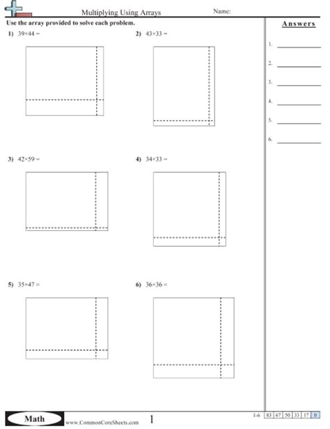 Area Model Multiplication Worksheets by Pictures Area Model Multiplication Worksheets Grade 4