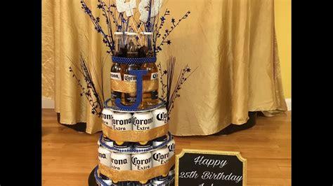 DIY Corona Beer Can/Bottle Cake For Boyfriend   YouTube