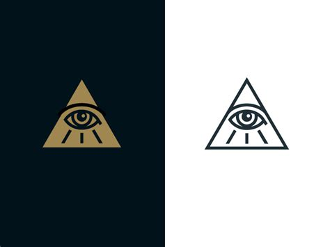 all seeing eye by jord riekwel dribbble