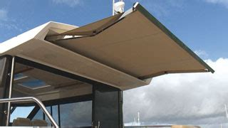 Powered Awnings by Powered Sun Awning Makefast Marine