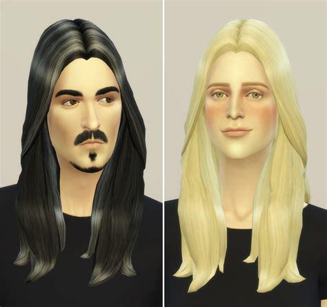 long hairstyles for men sims 4 my sims 4 blog rusty nail long wavy hair edit for males