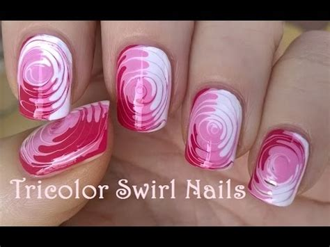 nail art tutorial using toothpick toothpick nail art 2 easy tricolor swirl nails tutorial