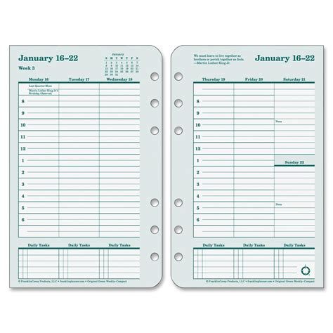franklin covey planner templates franklin covey original planner refill ld products