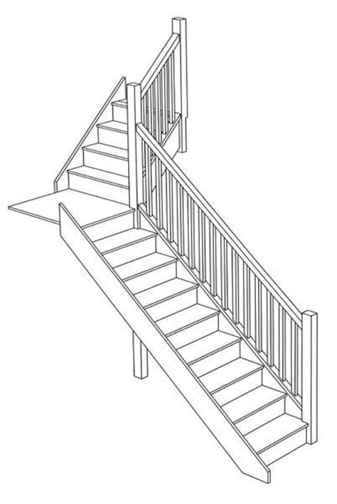 quarter landing stairs staircase design stair ideas wooden staircase designers uk