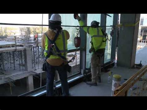 harmon curtain wall harmon inc jobsite curtain wall installation youtube