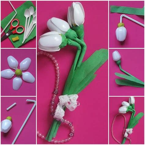 How To Make Handmade Flowers - handmade flowers with plastic spoons