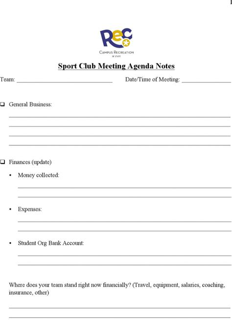 book club agenda template club meeting agenda templates free premium