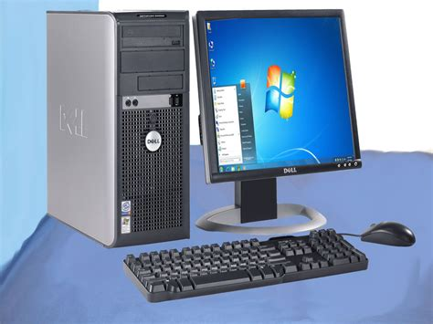 Dell Desk Top Computers Cheap Dell Windows 7 Home Premium Desktop Computer Pc 17 Quot Monitor Package Office Ebay