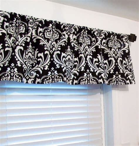 damask curtains black and white classic black and white damask curtain valance by oldstation