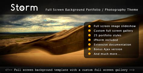 themeforest templates storm full screen background template by themecatcher