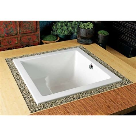 japanese style bathtubs japanese style drop in soaking tub bathroom pinterest