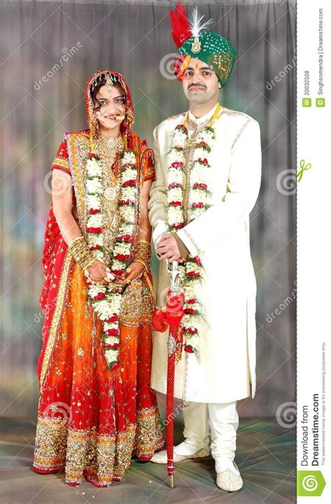 indian wedding dresses for couples indian in their wedding dress royalty free stock