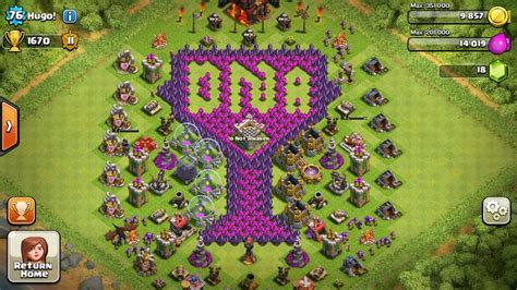 coc unique layout really cool base they incorporated there clan name