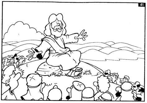 coloring page of jesus preaching jesus preaching the gospel free coloring pages