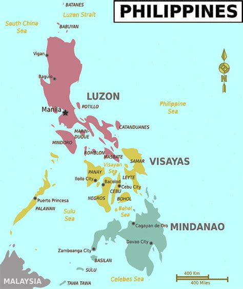map usa to philippines philippine maps