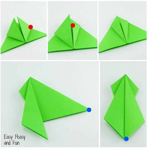 Step By Step Paper Folding - origami frogs tutorial origami for easy peasy and