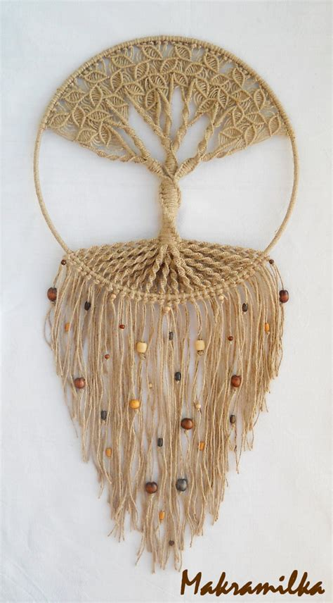 handmade macrame wall hanging tree of