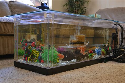 coffee table aquarium overwhelming living room interior design ideas show