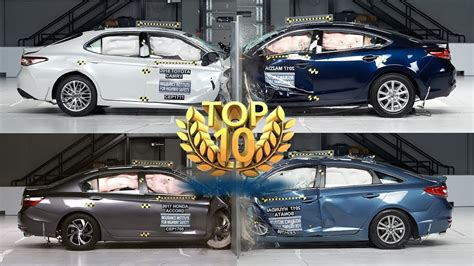 top 10 safest cars top 10 safest mid size cars 2018 2019 iihs rating 2018