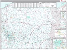 zip code map western pa pennsylvania western state sectional zip code wall maps