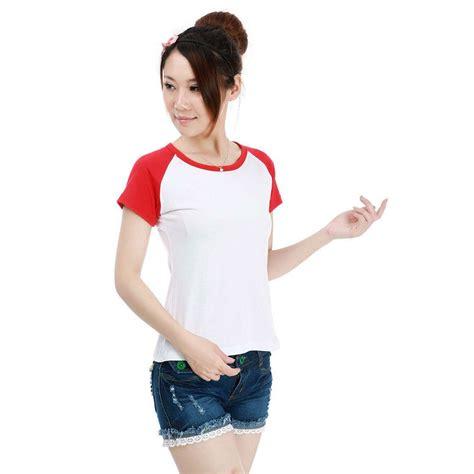 Kaos Wanita kaos polos katun wanita o neck size l 86205 t shirt