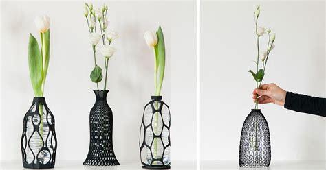 Wine Bottle Flower Vase I 3d Print Vases To Give Plastic Bottle A Second Life