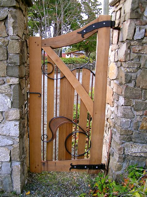 wooden backyard gates share