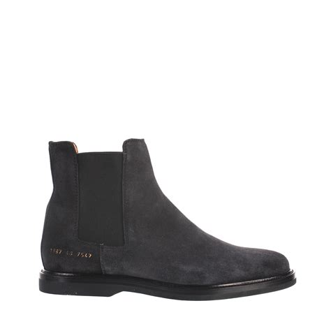 by common projects boots common projects boots chelsea leather in gray for lyst