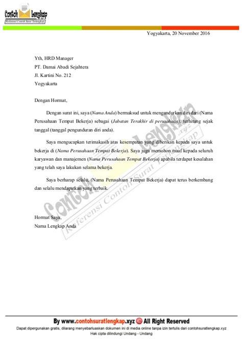 contoh surat pengunduran diri kerja yang baik dan sopan disertai tips