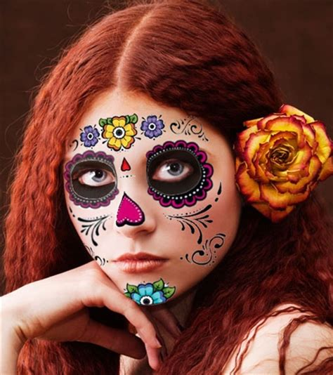 day of the dead face tattoo floral day of the dead sugar skull temporary