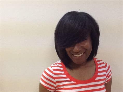 razor cuts hair salon augusta ga natural hair silk press razor cut layer bob yelp