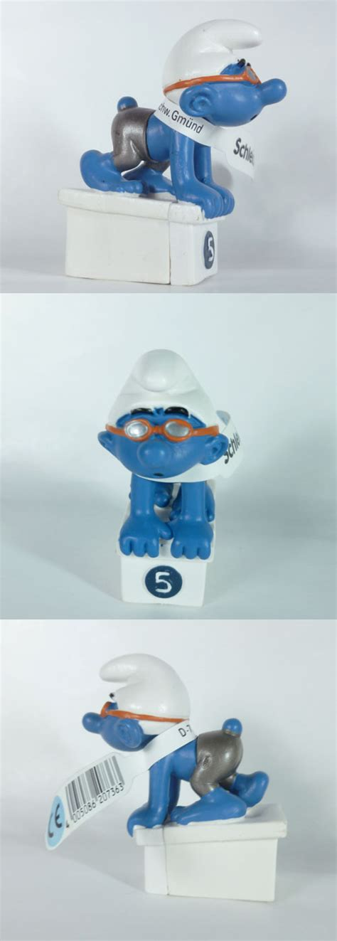Smurf Olympic schleich smurfs 207417 swimmer smurf olympics collection 2012