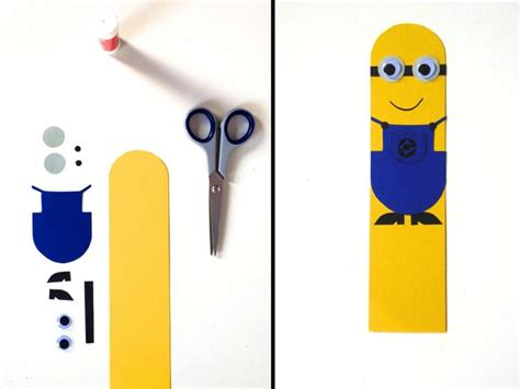 printable bookmarks minions minion bookmark minions bookmark diy papercrafts