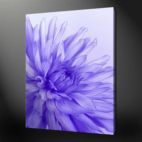 blue purple flower canvas wall pictures prints 20 x 16